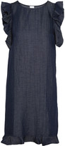 Iris and Ink Cutout ruffle-trimmed chambray dress