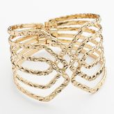 Apt. 9 Hammered Crisscross Bangle Bracelet