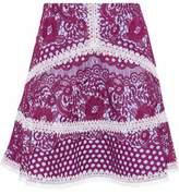 Alexis Crochet-Trimmed Guipure Lace Mini Skirt