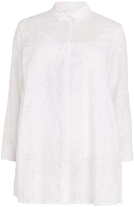 Marina Rinaldi Embroidered Longline Shirt