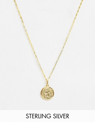 Astrid & Miyu 14k gold plated coin necklace
