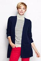 Classic Women's Lofty Open Drape Cardigan Sweater-Winter Violet Pinstripe