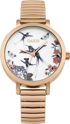 Oasis Womens Analogue Classic Quartz Watch with Aluminium Strap B1597