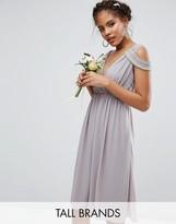 TFNC Tall WEDDING Wrap Front Midi Dress