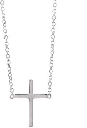 Jennifer Meyer Cross Necklace - White Gold