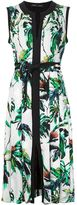 Proenza Schouler floral pleated dress
