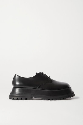 Burberry Guild Leather Platform Brogues - Black