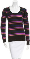 Sonia Rykiel Striped Bow-Accented Top