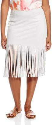 BB Dakota Women's Plus Size Heppy Fringe Skirt