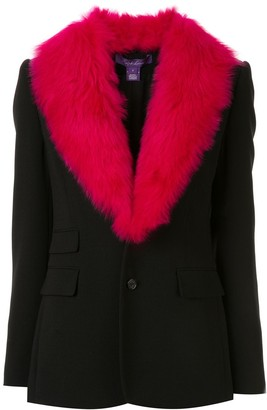 Ralph Lauren Faux Fur Collar Blazer