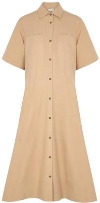 Lee Mathews Kei camel cotton-poplin shirt dress