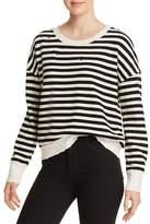 Splendid Embellished Striped Cropped Sweatshirt