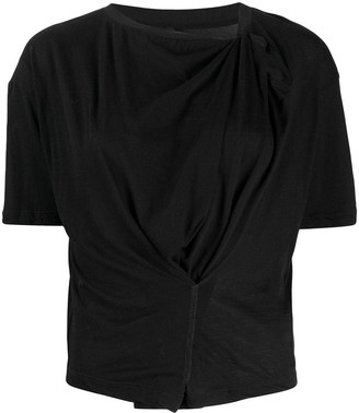 Unravel Project Draped Style T-Shirt