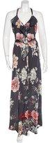 L'Agence Floral Print Maxi Dress
