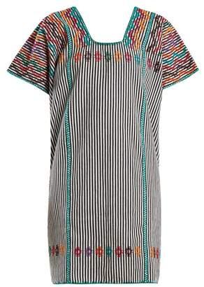 Pippa Holt - No.74 Embroidered Cotton Kaftan - Womens - Black Multi