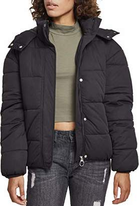 Urban Classics Women's Ladies Boyfriend Puffer Jacket,(Manufacturer Size: )