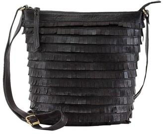 Prairie PRM200 Fringe Zip Top Crossbody Bag