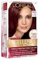 L'Oreal Excellence Creme Triple Protection Color Creme Permanent Haircolor Dark Mahogany Red (4RM)