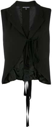 Ann Demeulemeester Cropped Tie-Front Waistcoat