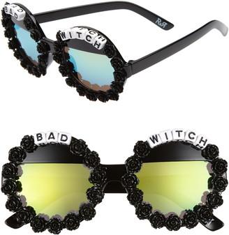 Rad + Refined Bad Witch Round Sunglasses