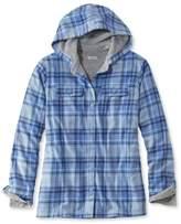L.L. Bean Fleece-Lined Flannel Plaid Hoodie