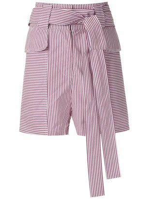Andrea Bogosian belted Piss shorts