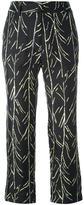 Proenza Schouler branch print trousers - women - Silk - 2