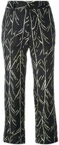 Proenza Schouler branch print trousers - women - Silk - 4