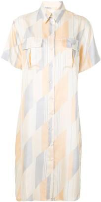 Jil Sander Geometric Print Shirt Dress
