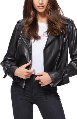 Paige Rayven Leather Moto Jacket