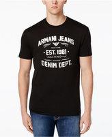 Armani Jeans Men's Denim Department Logo T-Shirt