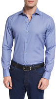Ermenegildo Zegna Teapot-Print Long-Sleeve Sport Shirt, Blue