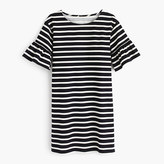 J.Crew Ruffled bell-sleeve shift dress in stripe