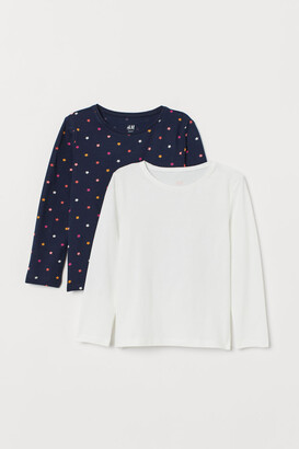 H&M 2-pack Long-sleeved Tops - Blue