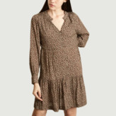 Suncoo Brown Viscose Cosmo Dress - 1 | viscose | brown - Brown/Brown
