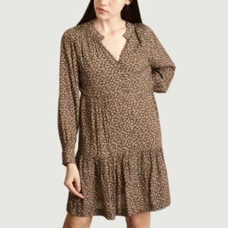 Suncoo Brown Viscose Cosmo Dress - 1   viscose   brown - Brown/Brown