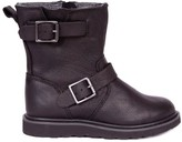 RUGGED GEAR New Biker Zip Leather Boots