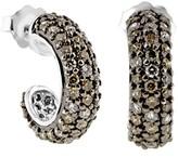 Effy Jewelry Effy 14K White Gold Cognac and White Diamond Earrings, 1.50 TCW