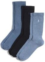 Polo Ralph Lauren Cushioned Crew Socks (3-Pack)