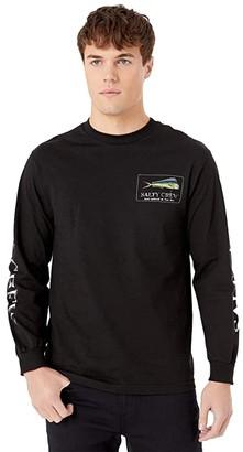 Salty Crew El Dorado Long Sleeve Tee (Black) Men's Clothing
