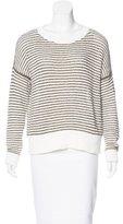 J Brand Striped Long Sleeve Sweater