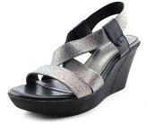 White Mountain Montego Women US 9.5 Silver Wedge Sandal