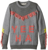 Stella McCartney Yeeah Yeeha Knit Sweater with Fringe Detail Girl's Sweater