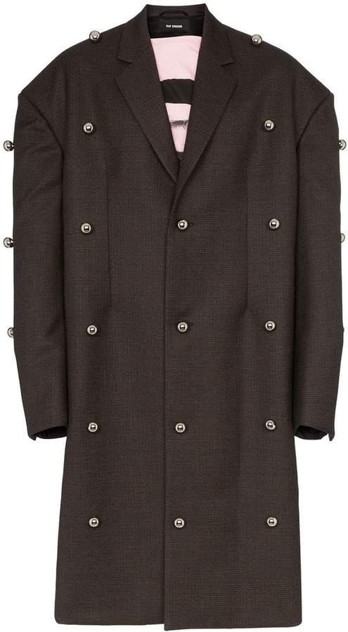 Raf Simons oversized studded woollen blazer jacket