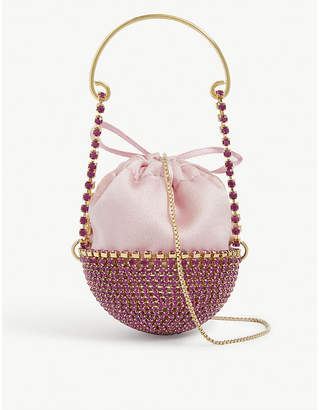 Rosantica Baby Ghizlan crystal-embellished necklace bag