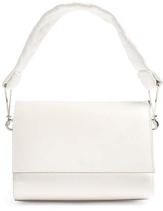 Topshop Quilted Handle Faux Leather Handbag
