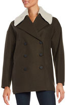 Andrew Marc Wool-Blend Sherpa Collar Coat