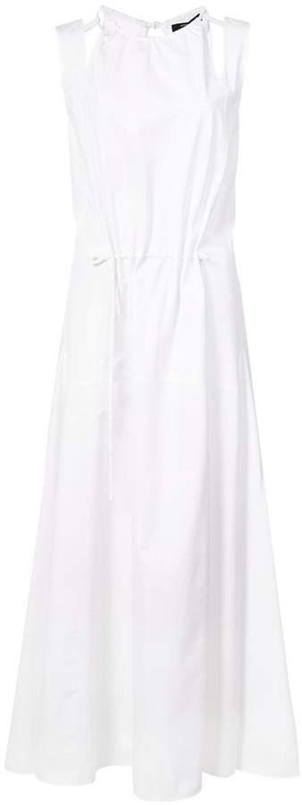 Derek Lam Halter Tank Dress with Seamed Full Skirt