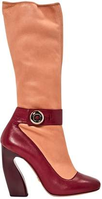 Prada \N Pink Leather Boots