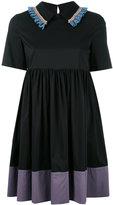 L'Autre Chose embroidered trim dress - women - Cotton/Polyamide/Spandex/Elastane - 38